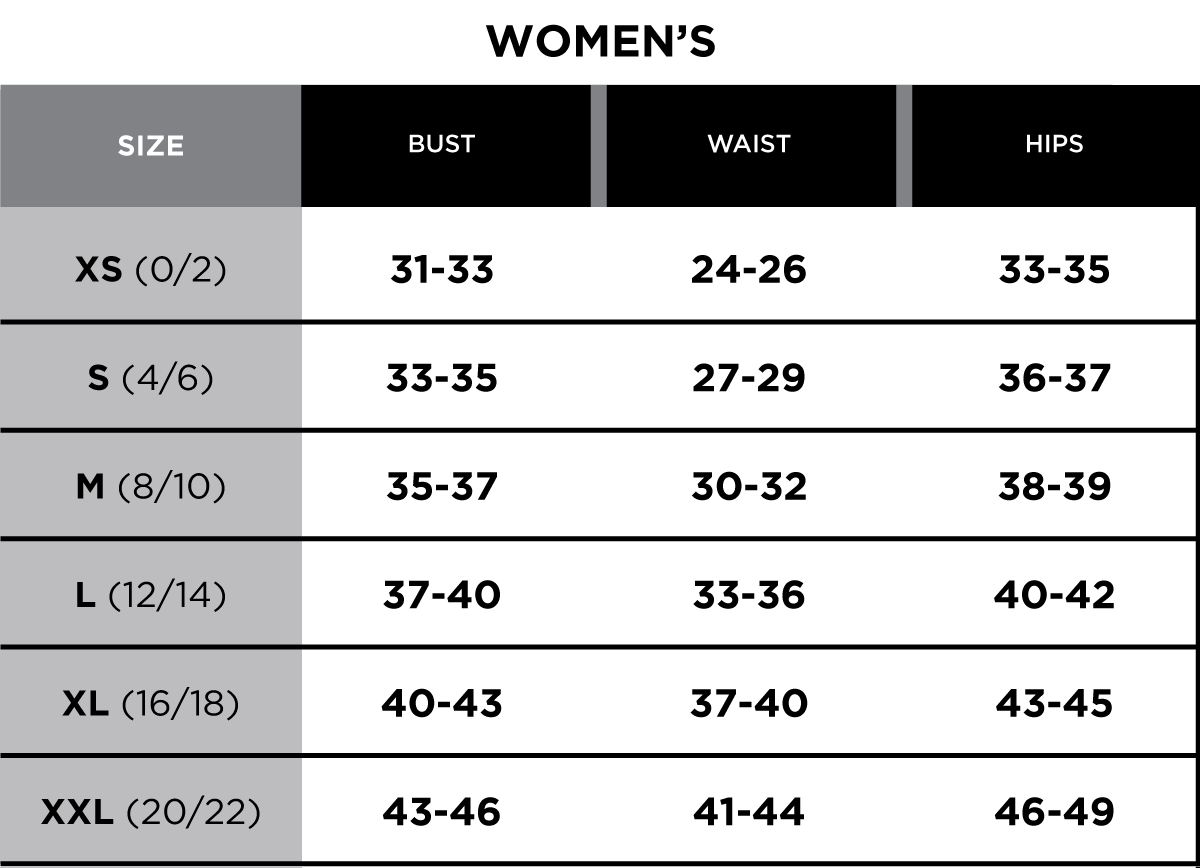 Size Charts For Women Heartpulsar